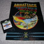 Aquattack for ColecoVision™ - Cartridge & Instruction Poster