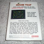 Mouse Trap™ for ColecoVision™ - Box (Back)
